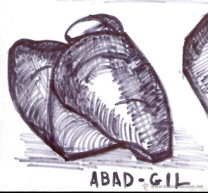 Arte: Antonio Abad - Gil, escultor (Cuenca,1921 – Lleida, 1987). Dibujo tinta/Papel. 30 x 21 cmt - Foto 5 - 53624703