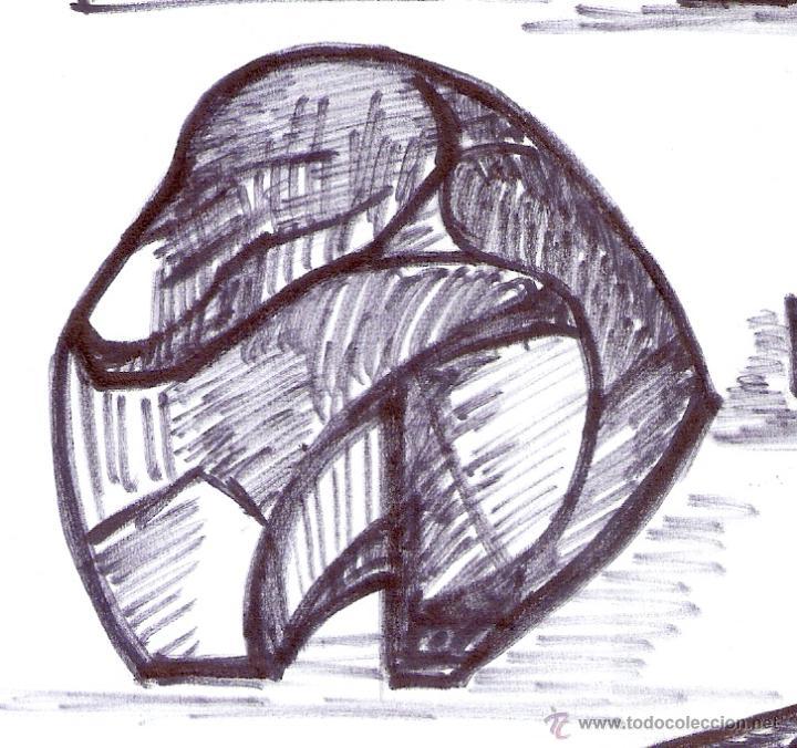 Arte: Antonio Abad - Gil, escultor (Cuenca,1921 – Lleida, 1987). Dibujo tinta/Papel. 30 x 21 cmt - Foto 7 - 53624703