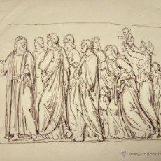 Arte: DIBUJO ORIGINAL CLÁSICO A TINTA DE FINALES DEL XVIII PRINCIPIOS DEL XIX. Lote 53720187