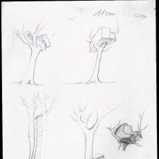 Arte: ANTONI BOLEDA ( ESCULTOR ). DIBUJO/BOCETOS.LAPIZ. 30X21 CMTRS. FIRMADO,FECHADO: A. BOLEDA 84 - 1984. Lote 53747207