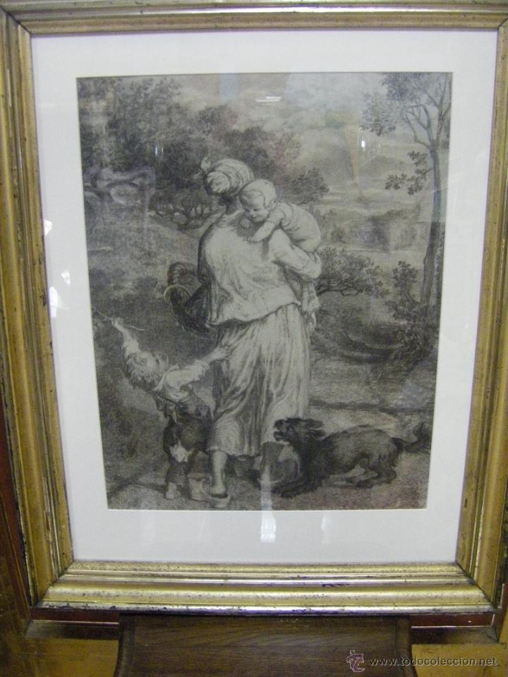 DIBUJO A LÁPIZ CARBONCILLO FRANCÉS DEL SIGLO XIX (Arte - Dibujos - Modernos siglo XIX)