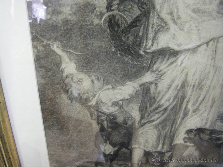 Arte: dibujo a lápiz carboncillo francés del siglo XIX - Foto 4 - 53747613