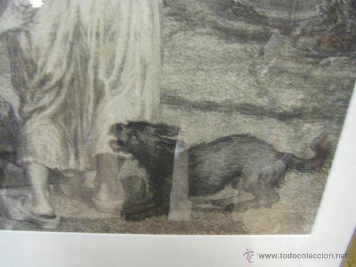 Arte: dibujo a lápiz carboncillo francés del siglo XIX - Foto 5 - 53747613