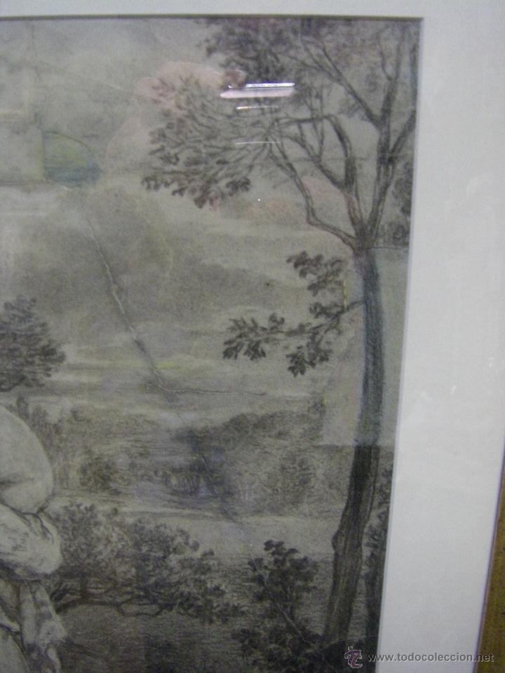 Arte: dibujo a lápiz carboncillo francés del siglo XIX - Foto 8 - 53747613