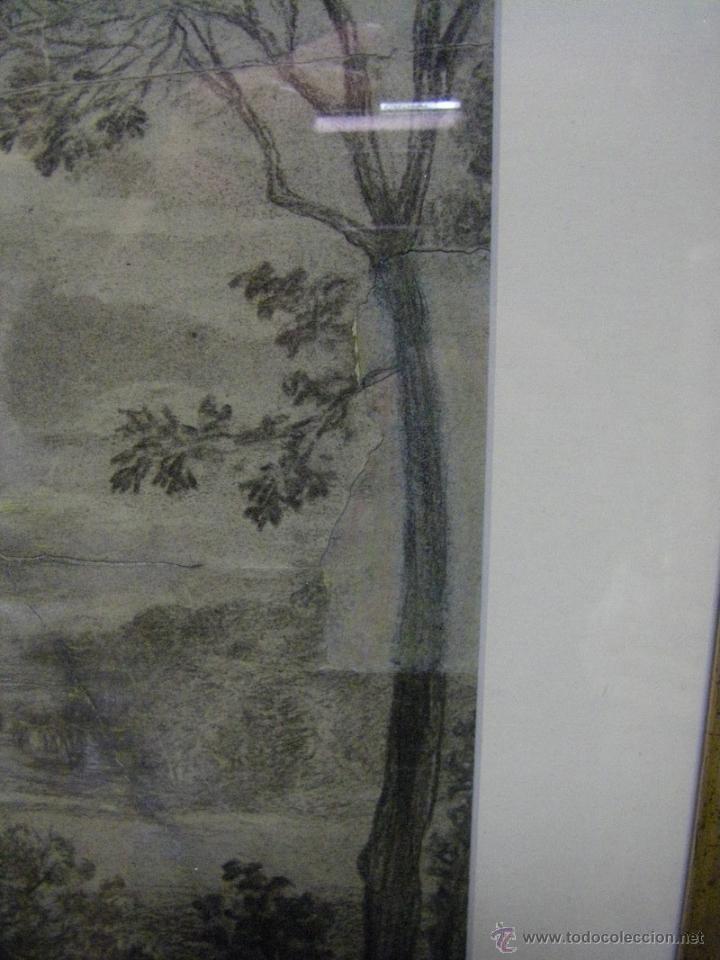 Arte: dibujo a lápiz carboncillo francés del siglo XIX - Foto 10 - 53747613