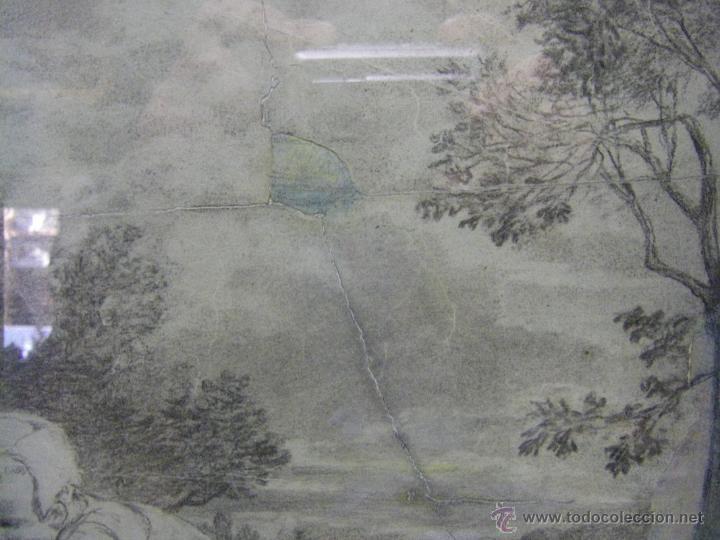 Arte: dibujo a lápiz carboncillo francés del siglo XIX - Foto 12 - 53747613