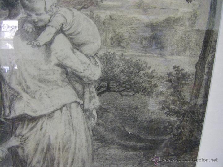 Arte: dibujo a lápiz carboncillo francés del siglo XIX - Foto 13 - 53747613