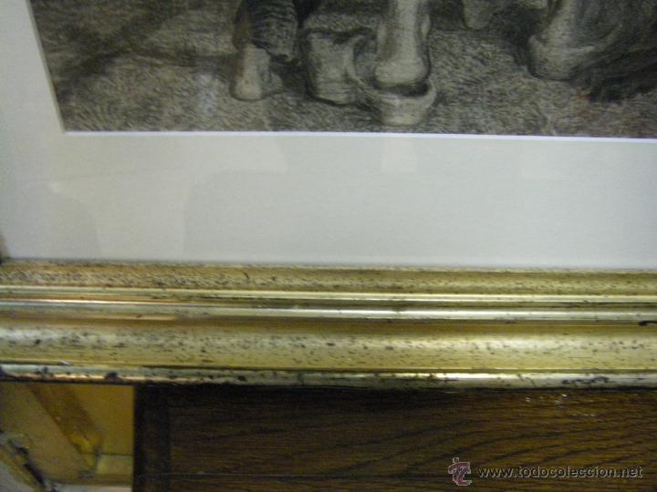 Arte: dibujo a lápiz carboncillo francés del siglo XIX - Foto 14 - 53747613