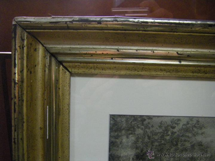 Arte: dibujo a lápiz carboncillo francés del siglo XIX - Foto 15 - 53747613