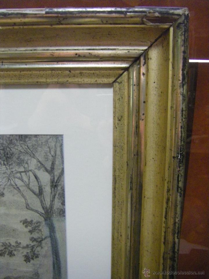 Arte: dibujo a lápiz carboncillo francés del siglo XIX - Foto 16 - 53747613