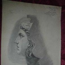Arte: MAGNIFICO DIBUJO ANTIGUO A CARBONCILLO ESCUELA CATALANA FIRMADO JUAN JORBA. Lote 53765708