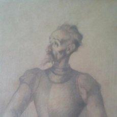 Arte - DIBUJO QUIJOTE FIRMADO VICENTE NAVARRO, 25X34CM SIN ENMARCAR, AÑO 1940 - 53828426