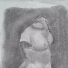 Arte: DIBUJO A CARBONCILLO. ACADEMIA. TAMANO FOLIO. A4.. Lote 53850271