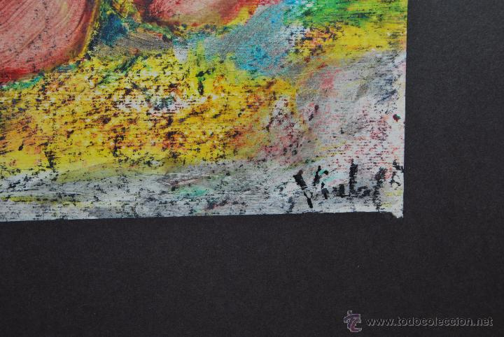 Arte: ORIGINAL PINTURA A LA CERA - BODEGÓN - FIRMADO - Foto 4 - 53980839