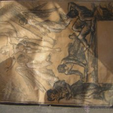 Arte: BOCETO ORIGINAL RIBAS RIUS FIRMADO. Lote 54056248