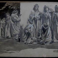 Arte: PARABOLA DE LAS DIEZ DONCELLAS - FRANZ GAILLIARD (BÉLGICA, 1861-1932). Lote 28574537