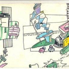Arte: DIBUJO ORIGINAL THE NO GRAPHIX PARA SPOOK FACTORY DISCOTECA SIN PUBLICAR INÉDITO. Lote 54140642
