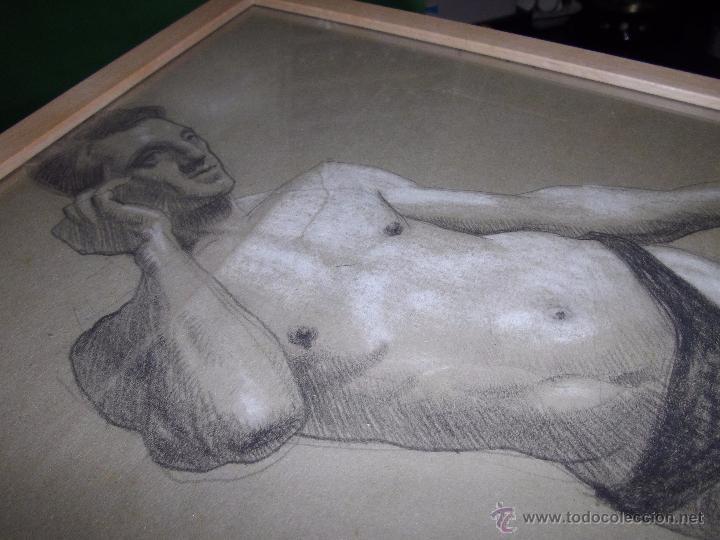 Arte: EXCELENTE DIBUJO HOMBRE ELEGANTE LANZADOR JABALINA INGLATERRA LAPIZ ART DECO MODERNISTA XIX BAUHAUS - Foto 4 - 54163518