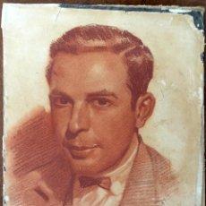 Arte: PRECIOSO RETRATO A SANGUINA DE 1928 DE AUTOR FENOLL? ORIGINAL DE 24X19CM.. Lote 54296022
