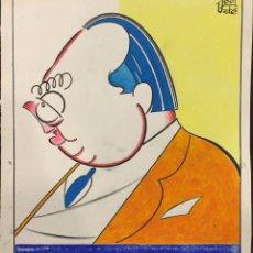 Arte: FRANCISCO UGALDE PRADO. CARICATURA ORIGINAL DE JUAN ESPANTALEON. Lote 54352734