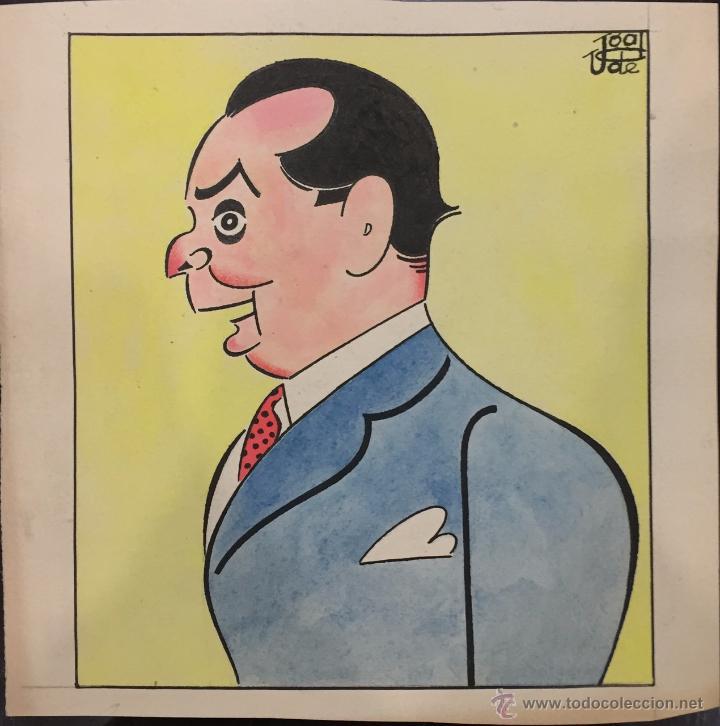 FRANCISCO UGALDE PRADO. CARICATURA ORIGINAL (Arte - Dibujos - Contemporáneos siglo XX)