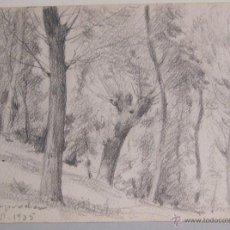 Arte: PAISAJE. LAPIZ. ATRIBUIDO ANTONI DE FERRATER. CAMPRODON 1935. 11,5 X 15,5 CM. Lote 54413387