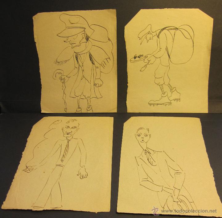 CARICATURAS AUTOR DESCONOCIDO. C.1927. 14 X 10.30 CM (Arte - Dibujos - Modernos siglo XIX)