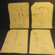 Arte: CARICATURAS AUTOR DESCONOCIDO. C.1927. 14 X 10.30 CM. Lote 54474244