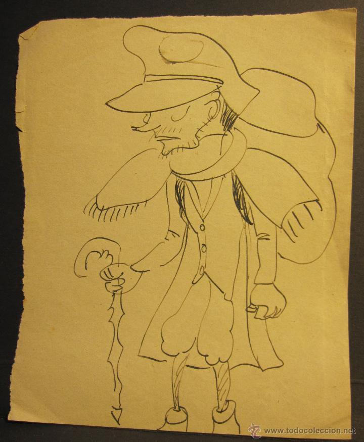 Arte: CARICATURAS AUTOR DESCONOCIDO. C.1927. 14 X 10.30 CM - Foto 2 - 54474244