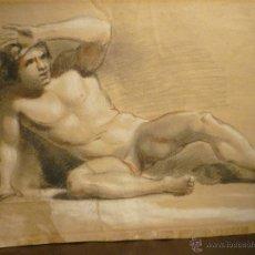 Arte: HOMBRE DESNUDO. CIRCULO DE ANTONIO RAFAEL MENGS (1728-79). Lote 54498599