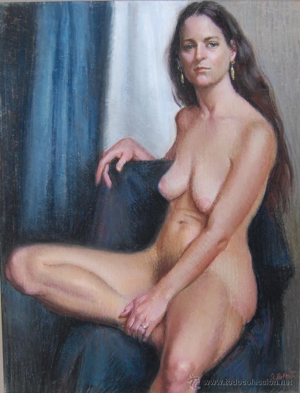 2X DESNUDOS FEMENINOS - ORIGINAL 1970'S - ¡ EXTRAORDINARIOS ! (Arte - Dibujos - Contemporáneos siglo XX)