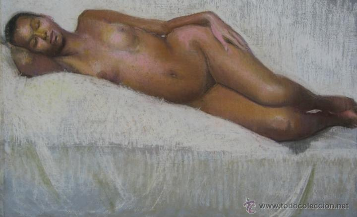 Arte: 2x DESNUDOS FEMENINOS - ORIGINAL 1970's - ¡ Extraordinarios ! - Foto 2 - 29783540
