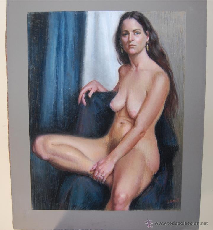 Arte: 2x DESNUDOS FEMENINOS - ORIGINAL 1970's - ¡ Extraordinarios ! - Foto 3 - 29783540