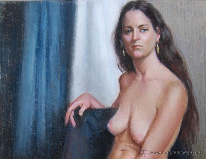 Arte: 2x DESNUDOS FEMENINOS - ORIGINAL 1970's - ¡ Extraordinarios ! - Foto 4 - 29783540