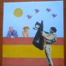 Arte: J ABAD, LÁPIZ COLOR Y COLLAGE SOBRE CARTULINA, 32 X 25 APROX. Lote 54615304