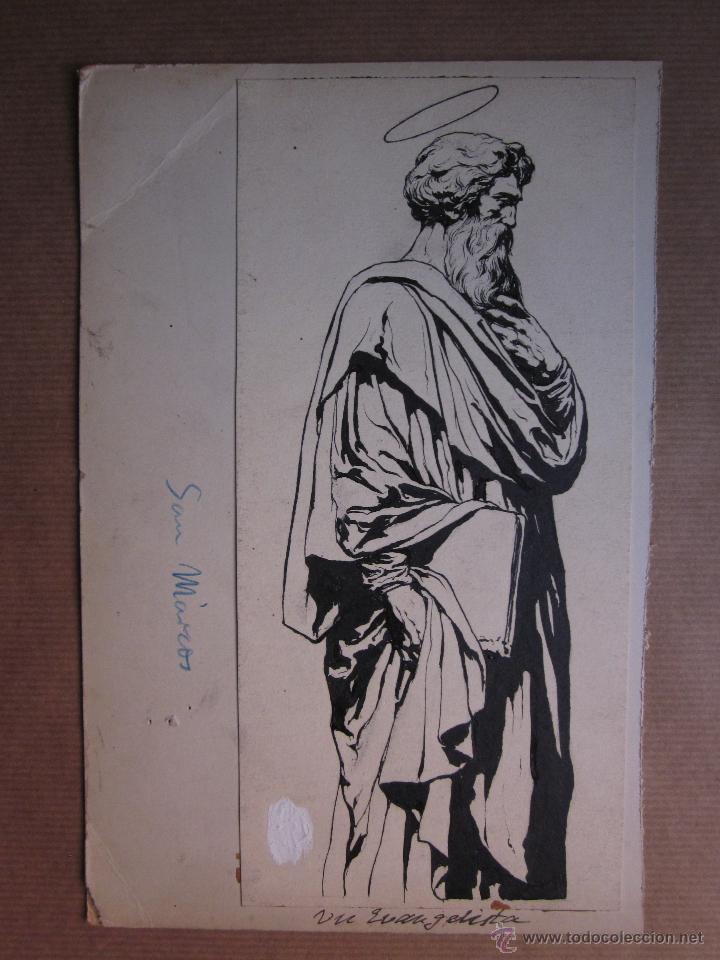 un evangelista, san marcos. dibujo original imp - Comprar Dibujos ...