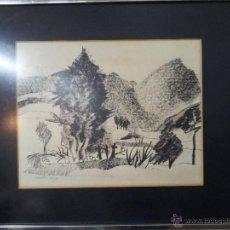 Arte: DIBUJO CARBONCILLO GRANADOS LLIMONA 1975 ORIGINAL. Lote 54659007