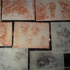 Arte: MIGUEL ANGEL - 50 REPRODUCCIONES EN FACSIMIL POR LÉON MAROTTE CON CATÁLOGO EN FRANCES. Lote 54696785