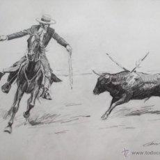 Arte: ESCUELA ESPAÑOLA CARBONCILLO/PAPEL 38 X 28 CM. FIRMADO Y FECHADO 1978.. Lote 54753142