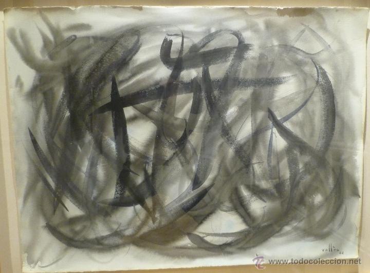 Arte: MAGNIFICA OBRA DE EVARIST VALLES (1923-99) DE 1962. GRANDES DIMENSIONES. - Foto 2 - 54790103