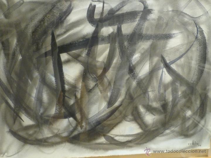 Arte: MAGNIFICA OBRA DE EVARIST VALLES (1923-99) DE 1962. GRANDES DIMENSIONES. - Foto 4 - 54790103