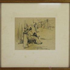 Arte: B3-095. PERSONAJES. DIBUJO AL CARBON. NICANOR VAZQUEZ UBACH. SIGLO XX.. Lote 53333483