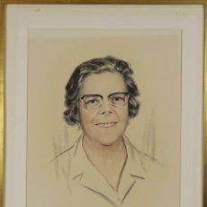 Arte: G1-003. RETRATO DE MUJER. DIBUJO AL CARBON Y PASTEL. FIRMADO GUART. 1974.. Lote 53508054