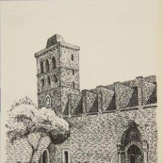 Arte: CATEDRAL DE IBIZA. DIBUJO A TINTA SOBRE PAPEL. FIRMADO CHEVANO. SIGLO XX.. Lote 51120569
