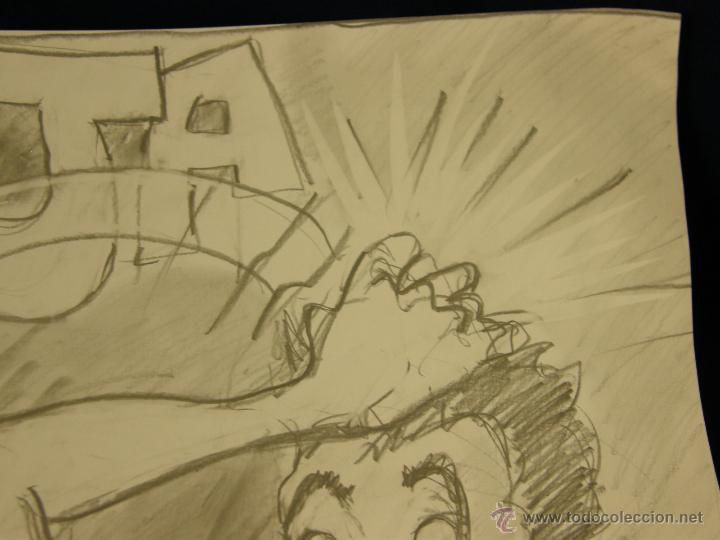 Arte: dibujo lapiz sobre cartulina pero qué birria ja ja ja chico carcajada risa firmado cesar 01 64x45,5 - Foto 4 - 54801031