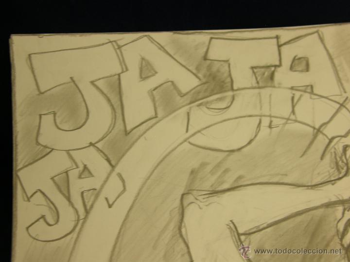 Arte: dibujo lapiz sobre cartulina pero qué birria ja ja ja chico carcajada risa firmado cesar 01 64x45,5 - Foto 5 - 54801031
