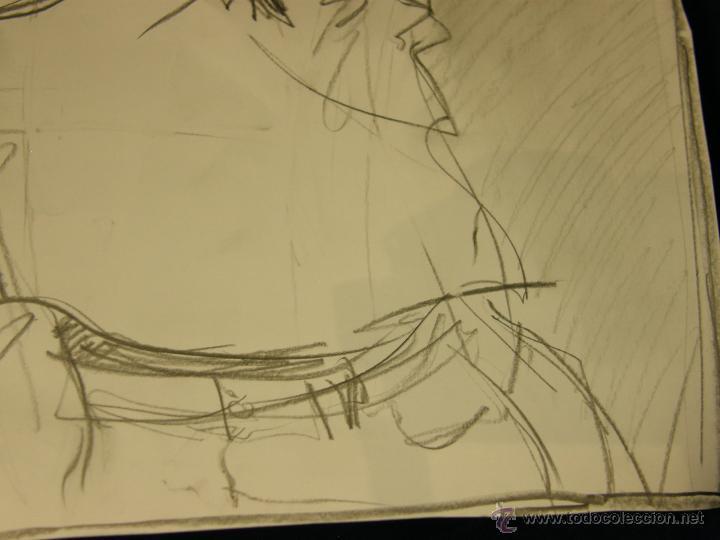 Arte: dibujo lapiz sobre cartulina pero qué birria ja ja ja chico carcajada risa firmado cesar 01 64x45,5 - Foto 8 - 54801031