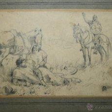 Arte: O1-016 - APELES MESTRES I OÑOS (1854-1936) - DIBUJO ORIGINAL - MEDIDAS: 9.5 * 14 CM. Lote 46074835