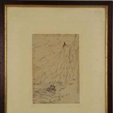 Arte: O1-022- AGUADO. DIBUJO A TINTA. MED S. XX.. Lote 45399340