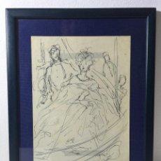 Arte: PERE CLAPERA I ARGELAGUER , DIBUJO A TINTA. Lote 54835656